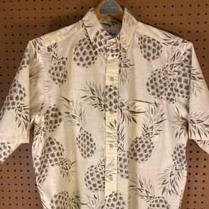 reyn spooner Vintage Pineapple Hawaiian Button Up